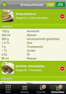 AOK glutenfreie Rezepte - screenshot thumbnail