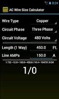 Screenshot of Wire Size Calculator