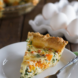 Quiche Recipe with Butternut Squash and Kale