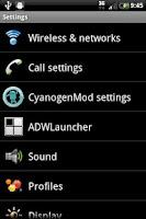 Screenshot of cm7 SenseMDPI theme
