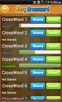 Screenshot of Easy Crossword