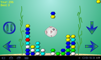 Screenshot of Falling Color Gems And Fish
