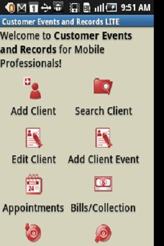 Customer Events Records CRM-L - screenshot