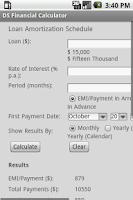 Screenshot of DS Financial Calculator