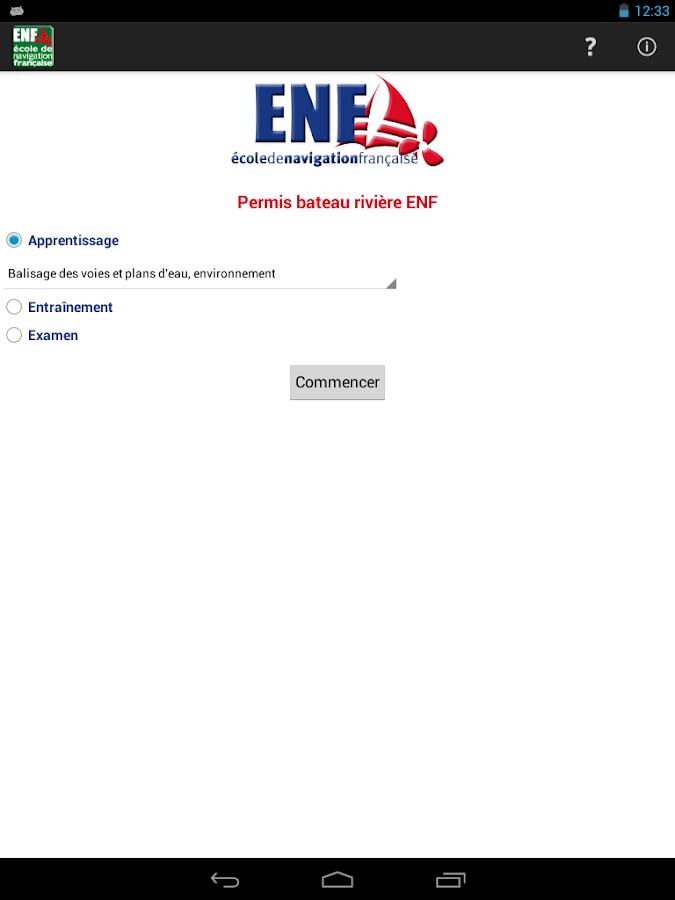 Permis bateau rivière ENF - screenshot