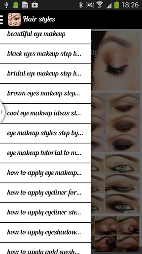 Trendy Eye Makeup Stepwise