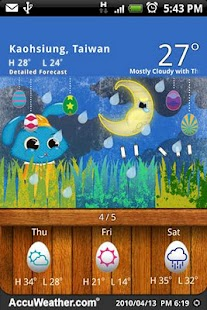9s-Weather Theme+ (Easter) - screenshot thumbnail