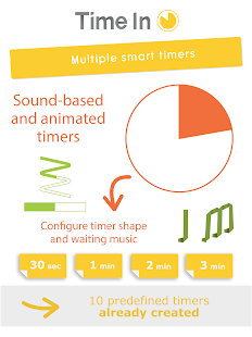Time in - Smart timers -- AMIKEO APPS - náhled