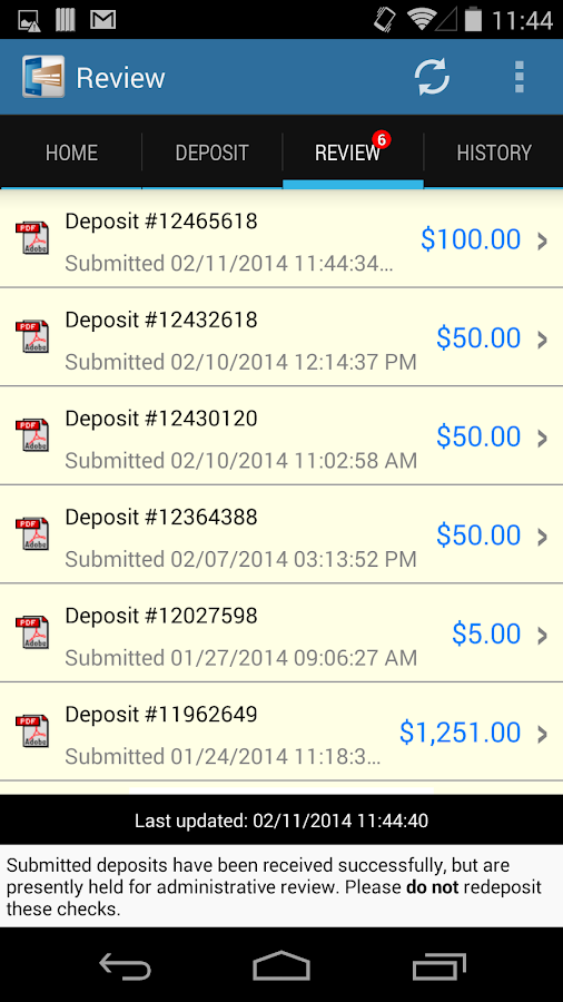DeposZip Mobile- screenshot