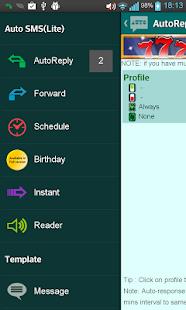 Auto SMS Lite(Autoresponder)- screenshot thumbnail