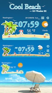 COOLBEACH THEME GO WEATHER