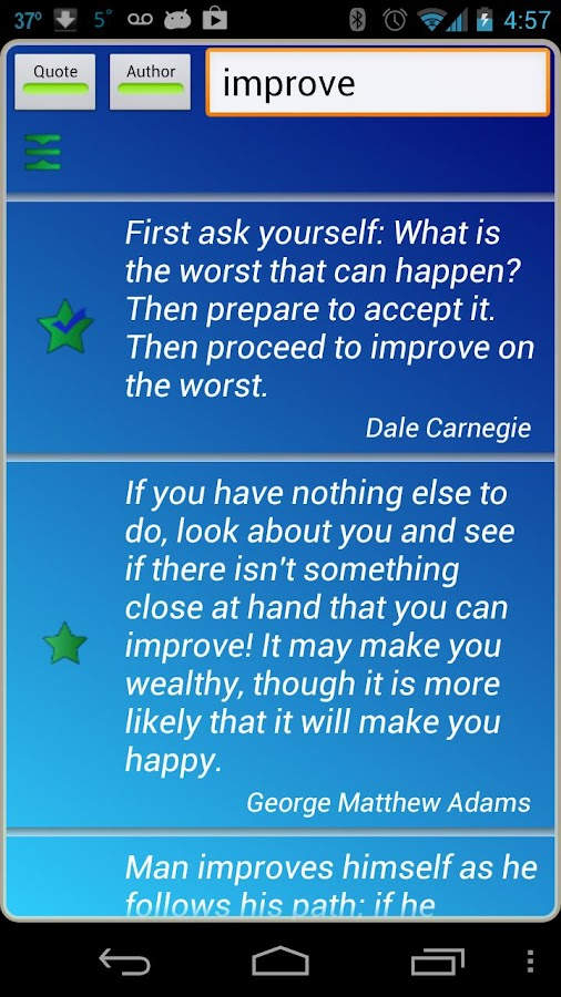 Self Improvement Quotes - screenshot