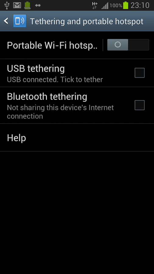 WiFi Tethering /WiFi HotSpot- screenshot