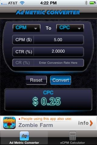 Ad Metric Converter - screenshot