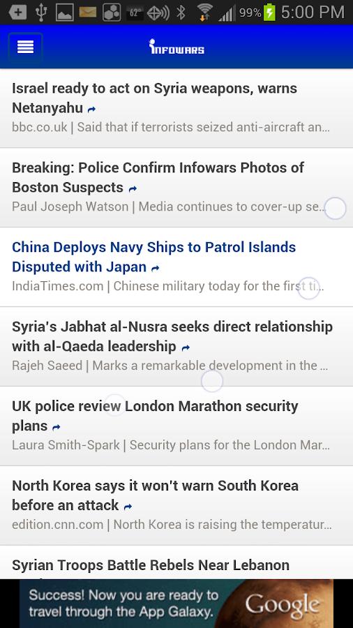 Infowars Reader - screenshot