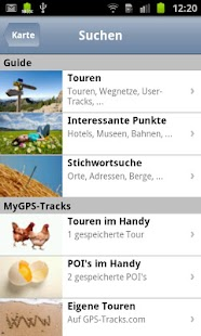GPS-Tracks for Android - screenshot thumbnail