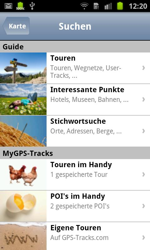 GPS-Tracks for Android- screenshot