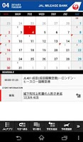 Screenshot of JAL Schedule