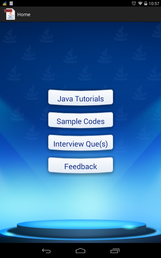 JAVA Easy Guide - Tutorials - screenshot