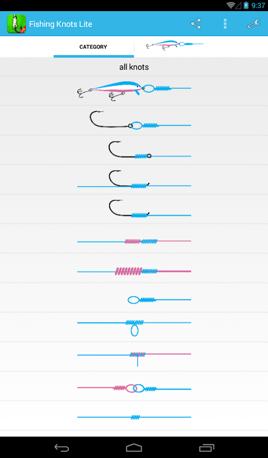 Fishing Knots Lite - screenshot