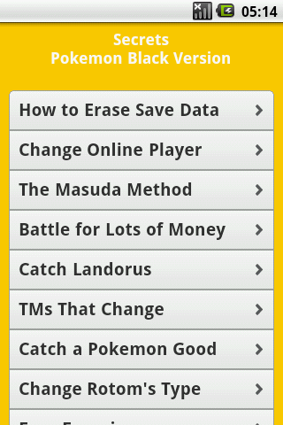 Pokemon All Series Cheats Free - screenshot