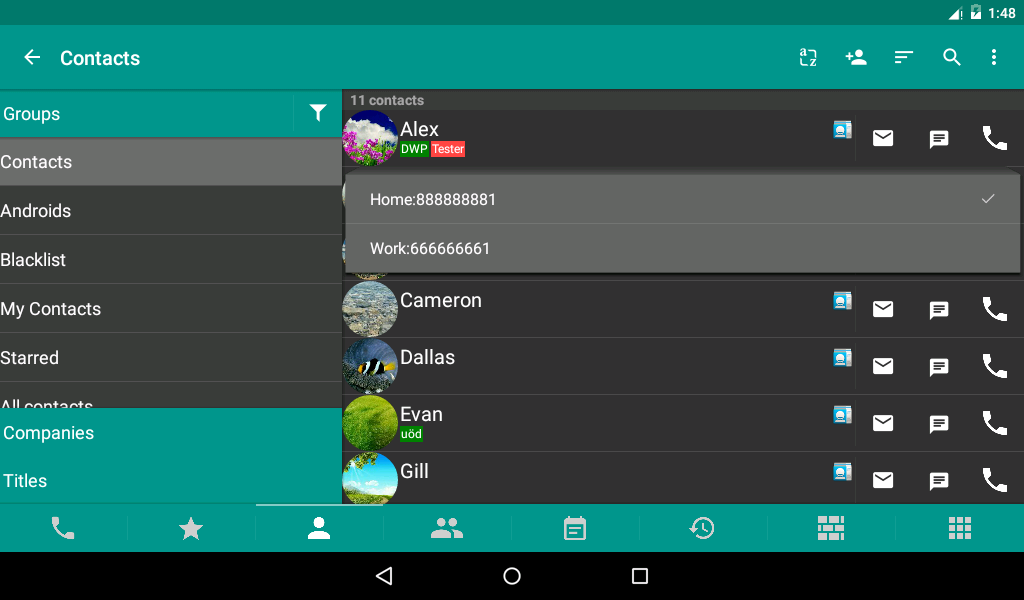 #10. DW Contacts & Phone & Dialer (Android)