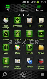 Razer GO Launcher EX Theme - screenshot thumbnail