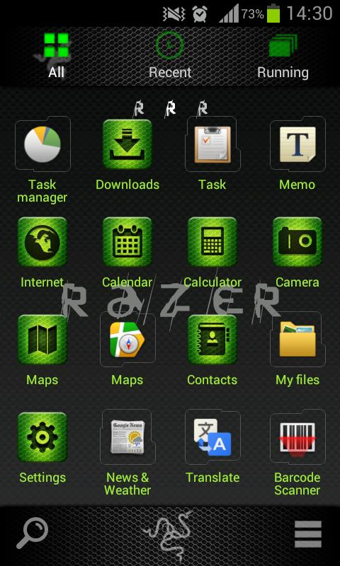Razer GO Launcher EX Theme - screenshot