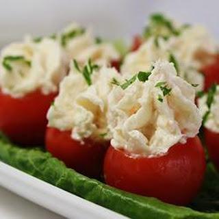Creamy Shrimp Stuffed Cherry Tomatoes.