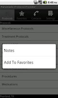 Screenshot of Paramedic Protocol Provider