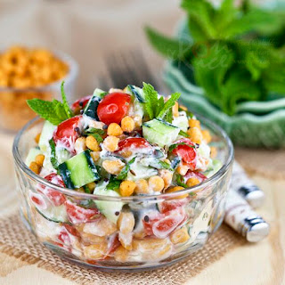 Cucumber, Tomato, and Boondi Raita Recipe