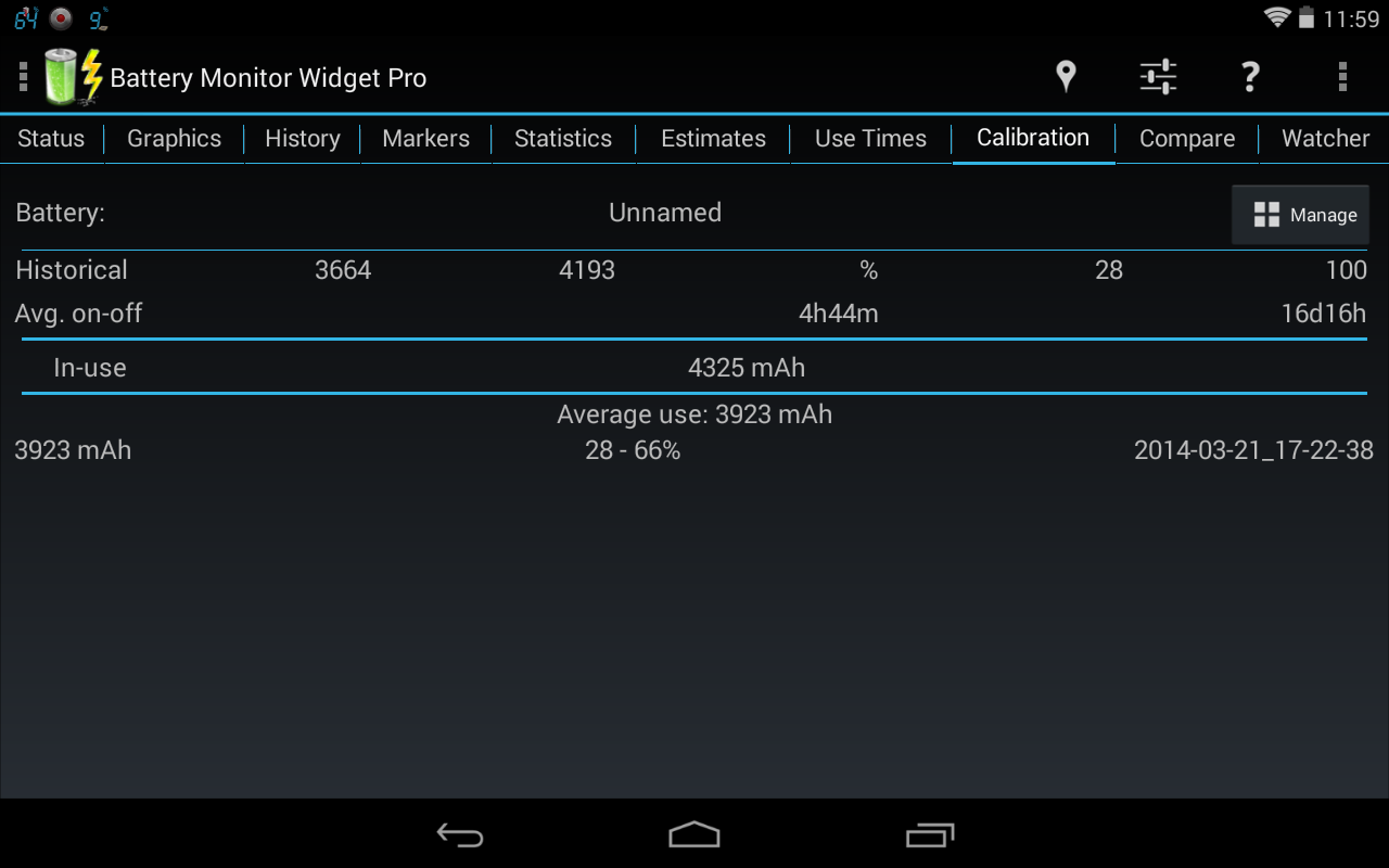 Battery Monitor Widget Pro - screenshot