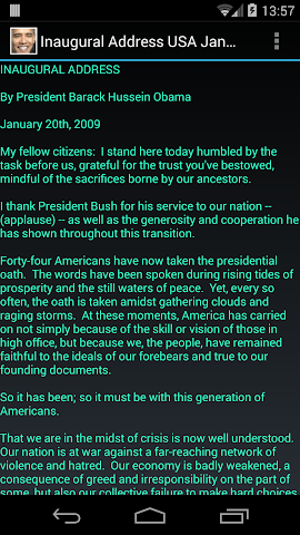 Screenshots for Inaugural Address USA 2009