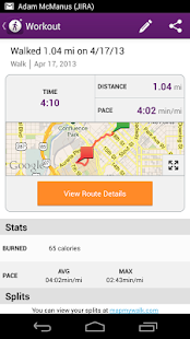 MapMyWalk+ GPS Pedometer - screenshot thumbnail