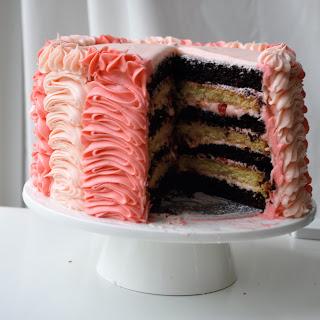 Happy Fifth Birthday! Seven Layer Chocolate and Vanilla Cake.