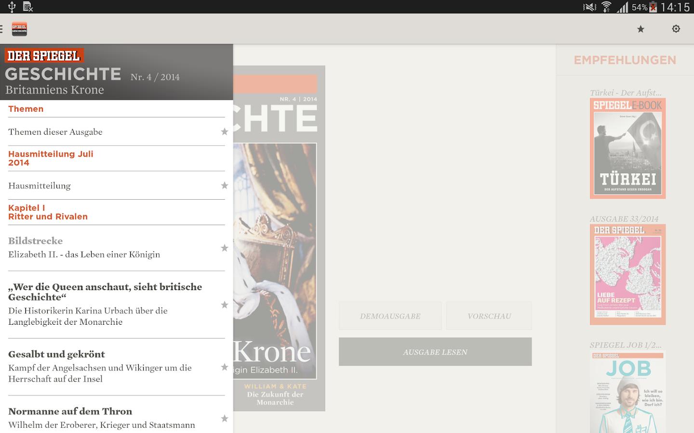Spiegel geschichte android apps on google play for Der spiegel redakteure