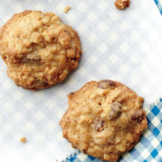 Chocolate Chip, Oatmeal, and Pecan Cookies.