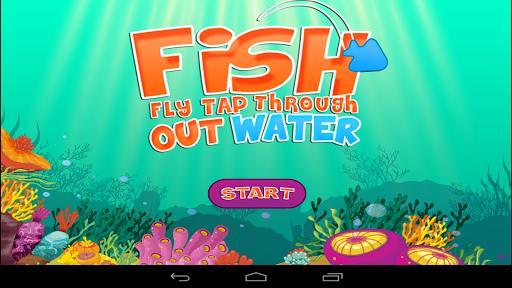 魚飛踏,通過了水