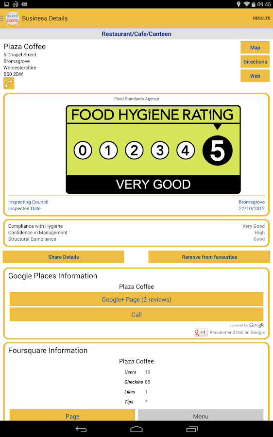 Food Hygiene -ScoresontheDoors- screenshot