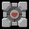 Portal Companion Cube logo