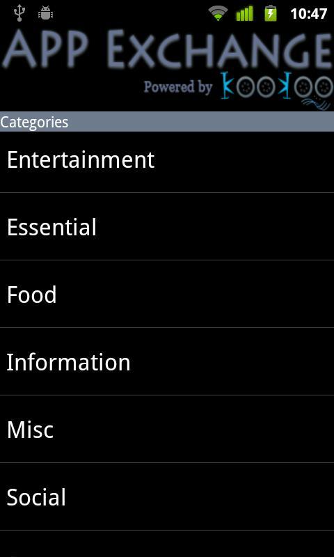 Mobile VAS directory-KooKoo- screenshot