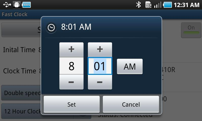 Model Railroad Fast Clock- screenshot