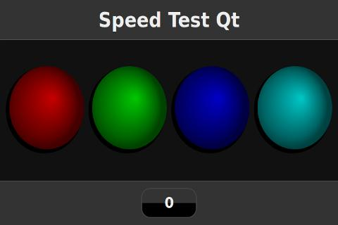 Speed Test Qt - screenshot