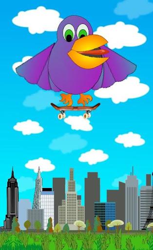 Skateboard Bird
