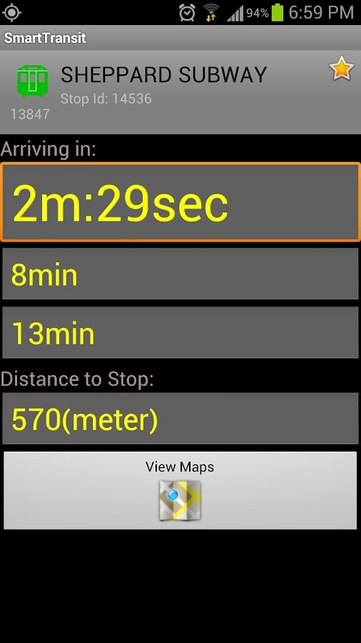 SmartTransit - screenshot