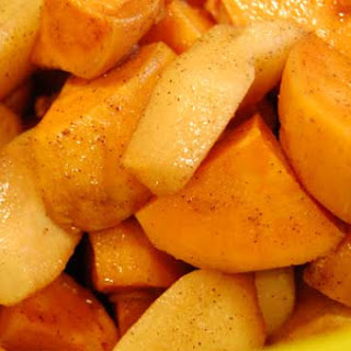 Sweet Potatoes and Apples in the Slow Cooker.