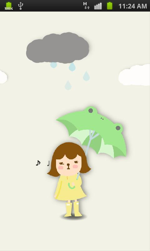 Rabbit Launcher RainCoat Girl - screenshot
