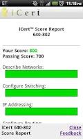 Screenshot of iCert Practice Exam CCNP ROUTE