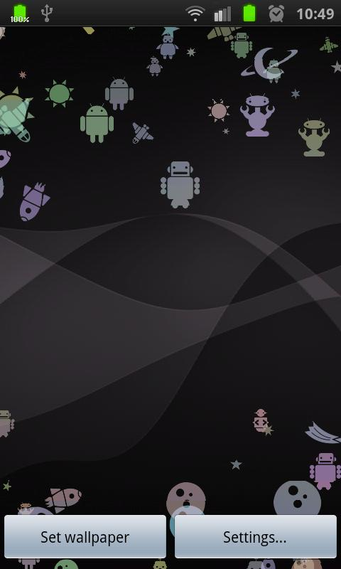 Androids! Live Wallpaper - screenshot
