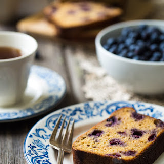 Whole Wheat Banana Bread with Greek Yogurt and Blueberries